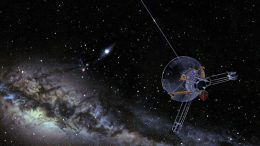 Pioneer spacecraft heading into interstellar space