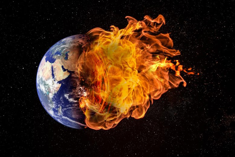 Planet Earth on Fire