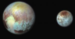 Pluto and Charon Shine in False Color Image