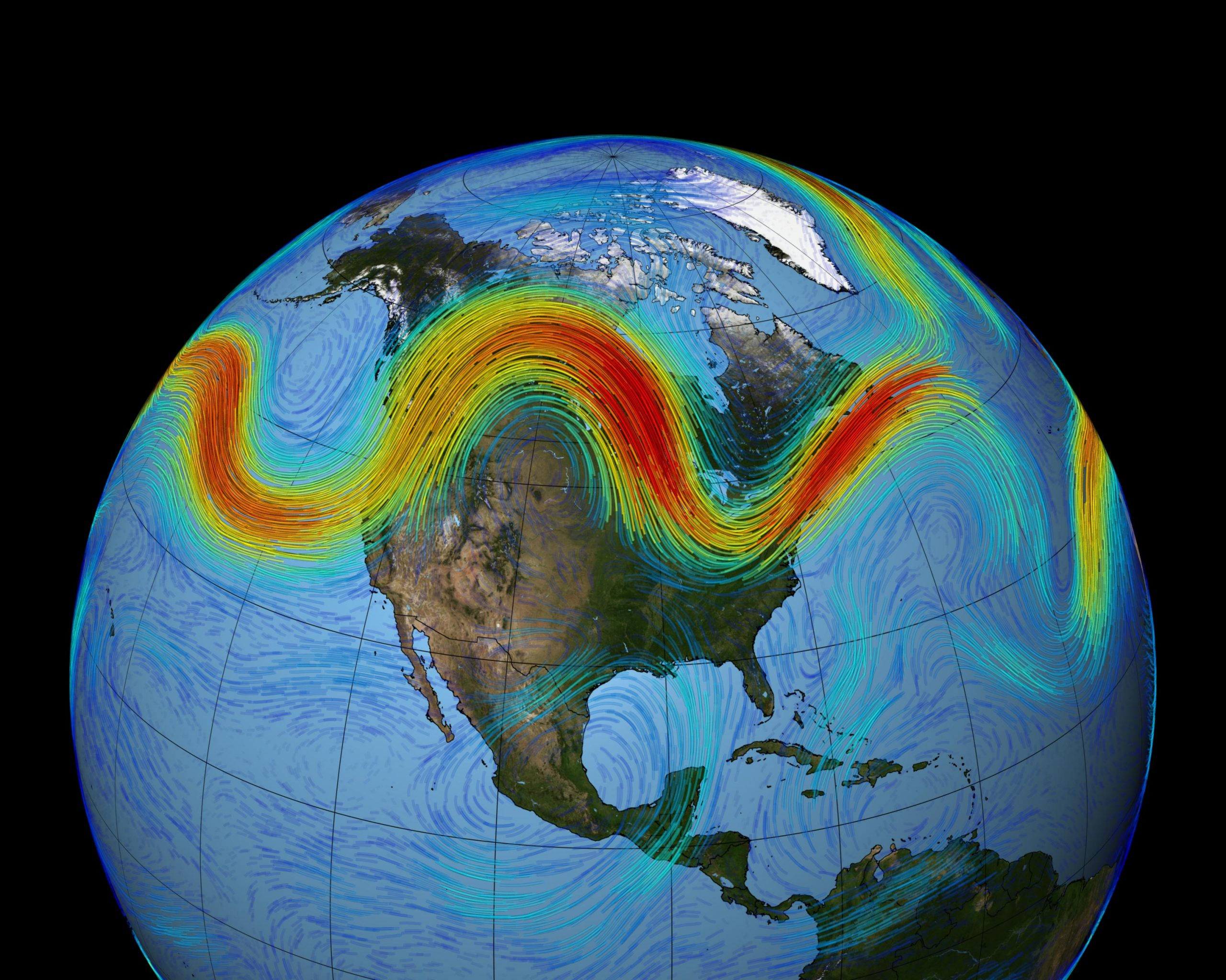 """Pioneering New Research Disputes """"Wavier"""" Jet Stream Due to Arctic Warming - SciTechDaily"""