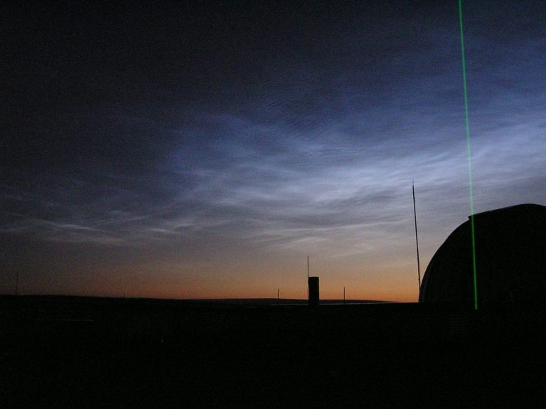 Polar Mesospheric Clouds Float High Above Poker Flat Research Range
