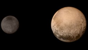 Portrait of Pluto and Charon from New Horizons Final Approach