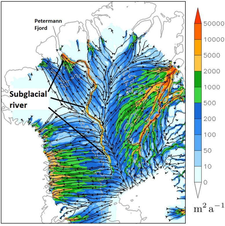 Possible River Flowing Greenland