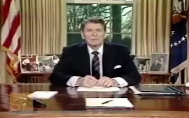 President Ronald Reagan Challenger Accident.