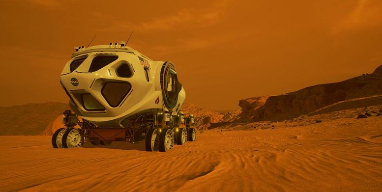 Pressurized Rover on Mars