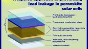 Preventing Lead Leakage in Perovskite Solar Cells