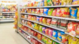 Processed Food Aisle Supermarket