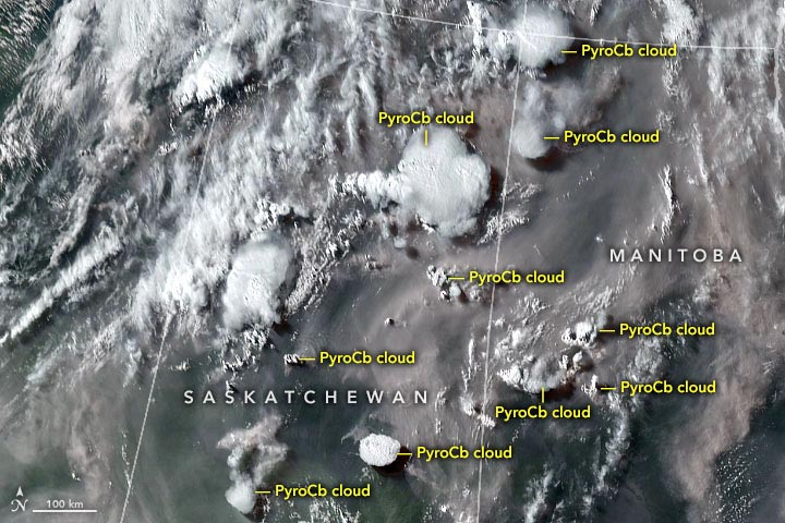 PyroCb Clouds Canada July 2021 Annotated