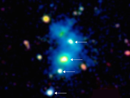 Quasar Quartet Reveals Rare Massive Structure in Distant Universe