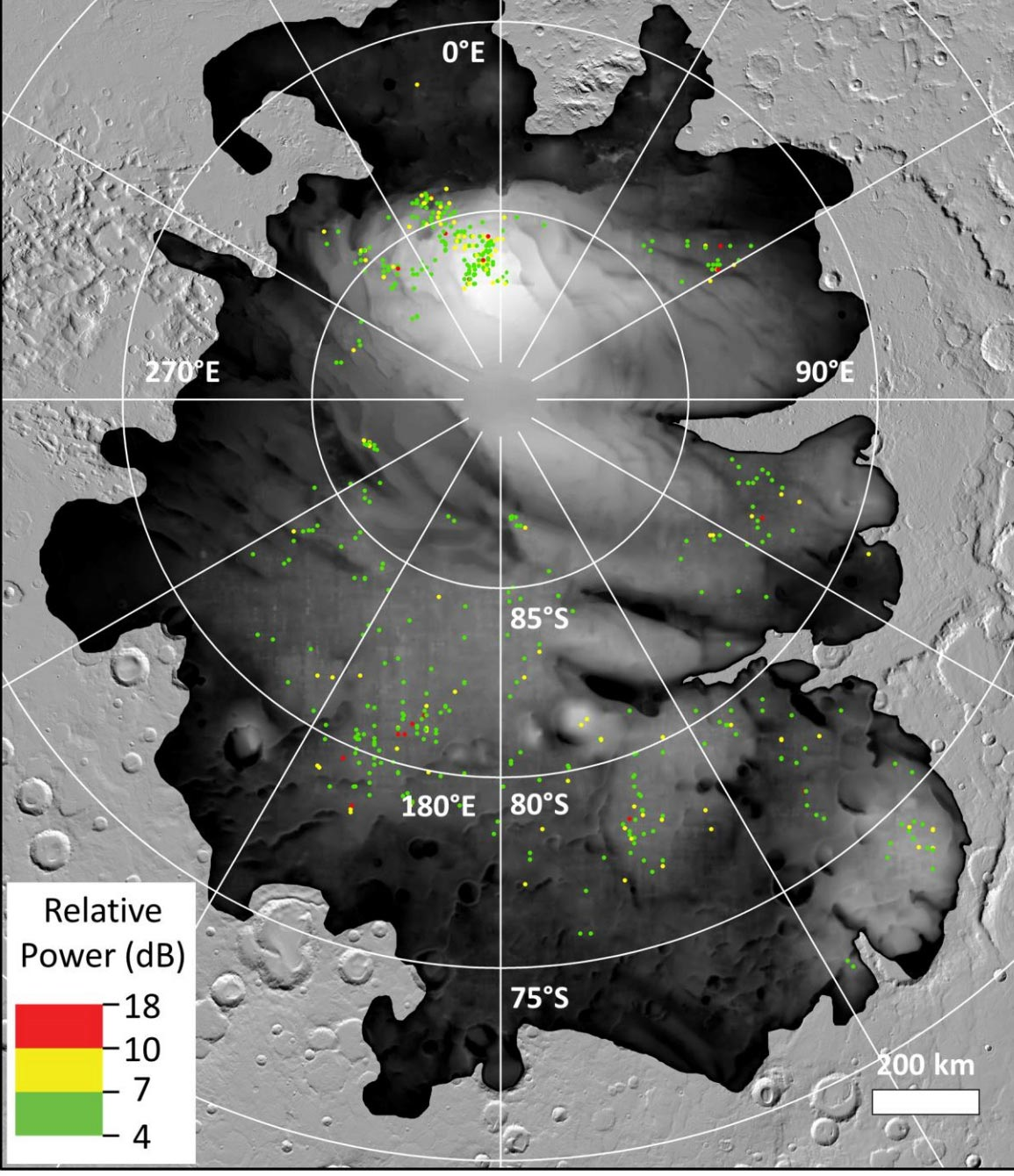 Doubt Cast on Premise of Subsurface Liquid Water Lakes on Mars – May Just Be Frozen Clay
