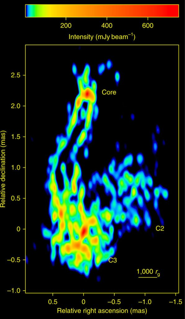 Radio Image of the Central Parsec in 3C84