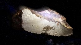 Rare Layered Meteorite Sample