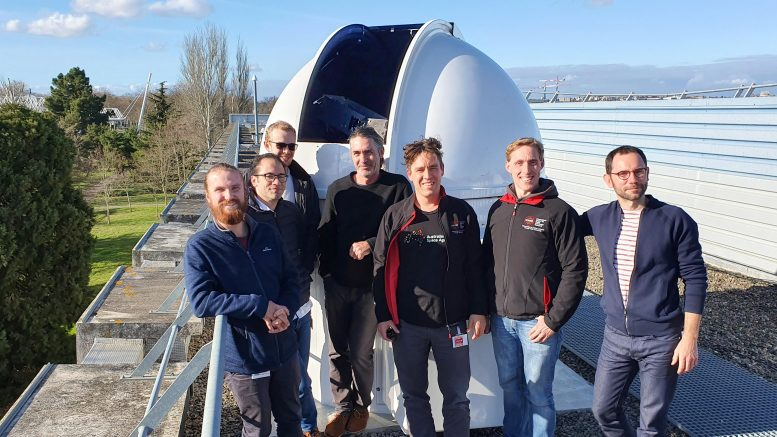 Record-Breaking Laser Link Research Team