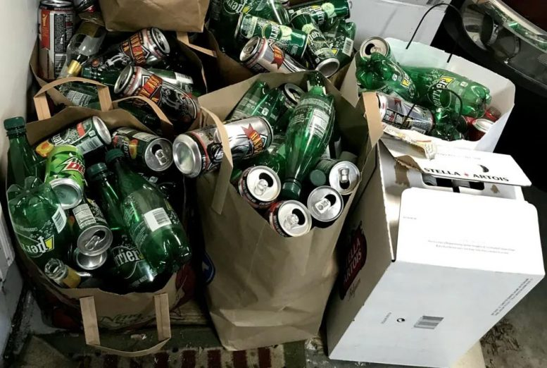 Recyclables Pile up