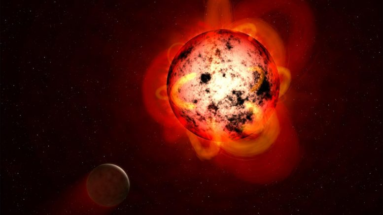 Red Dwarf Star Orbited by Exoplanet