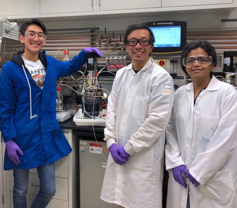 Research Team With Engineered Microbe Culture