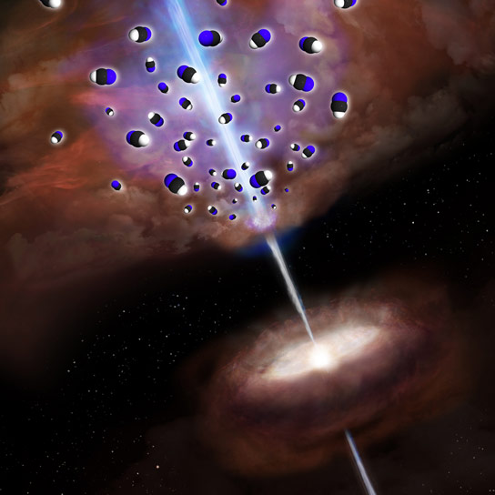 Researchers Detect Unique Chemical Composition Surrounding Supermassive Black Hole