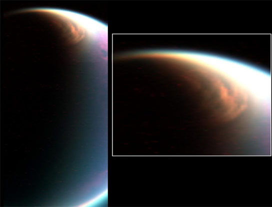 Researchers Identify an Unexpected High Altitude Methane Ice Cloud on Titan