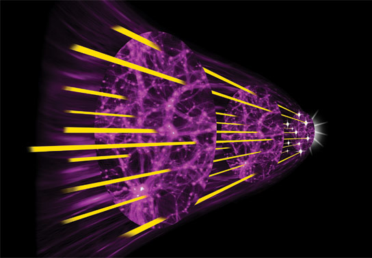 Researchers Use Quasar Light to Trace the Expansion of the Universe