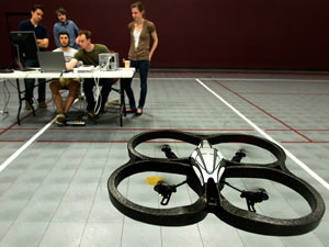 Researchers Use Their Thoughts to Steer a Flying Robot