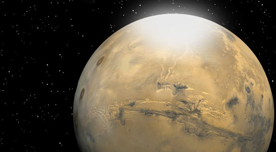 Researchers have determined the size of CO2 snow particles on Mars