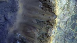 Rim of a Crater on Mars