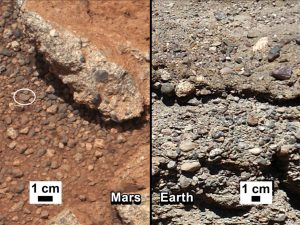 Rock Outcrops on Earth and Mars