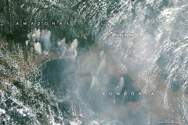 Rondonia Brazil Fires August 2021 Annotated