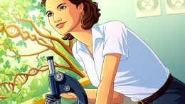 Rosalind Franklin Artistic Illustration