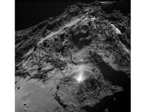 Rosetta Spacecraft Records Eruption of Jets of Dust on 67P
