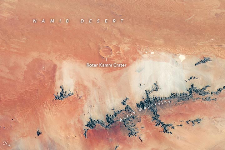Roter Kamm Crater Annotated