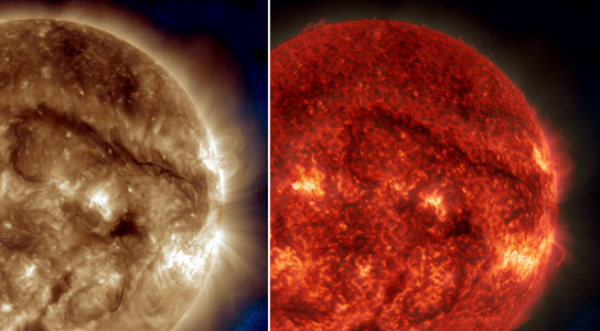 SDO Observes Giant Filament on the Sun