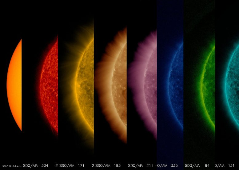 SDO Shows the Sun from Its Surface to Its Upper Atmosphere