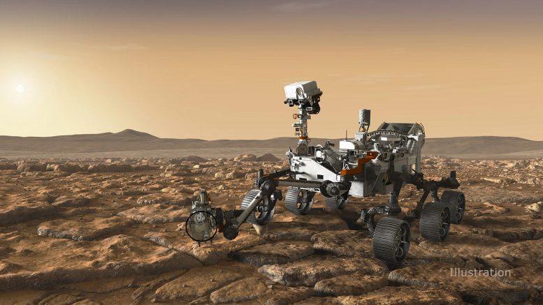 SHERLOC NASA Perseverance Mars Rover