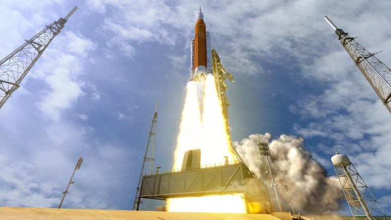 SLS Rocket With Orion Launch Complex 39B