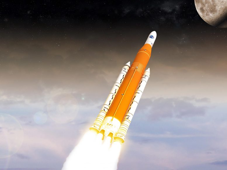 SLS on the Way to the Moon