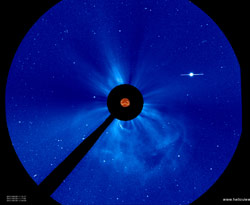 SOHO Captures Image of Earth Directed CME