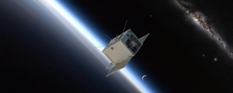 SPRITE CubeSat Orbiting Earth