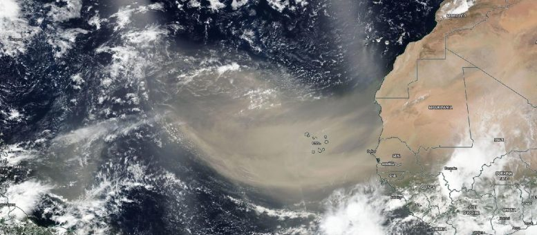 Saharan Dust Over North Atlantic Ocean