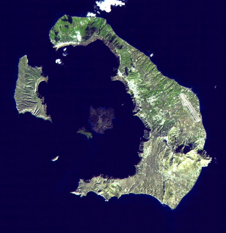 Santorini Greece from Space