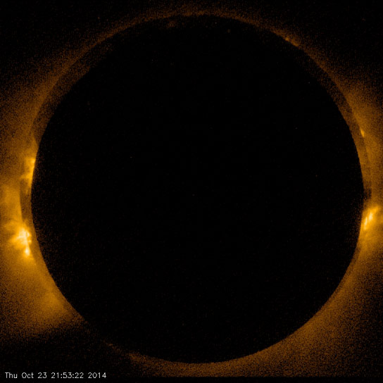 Satellite Captures Footage of Solar Eclipse