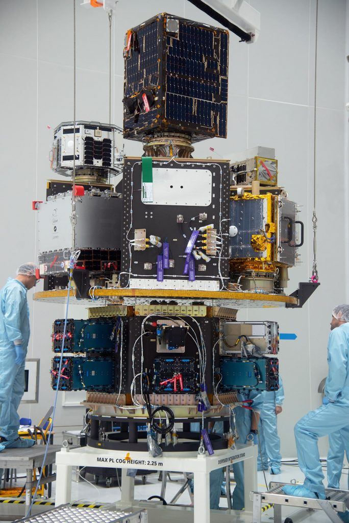Satellites Integrated Onto SSMS Payload Dispenser
