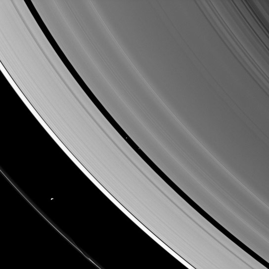 Saturnian-moons-Prometheus-and-Pan