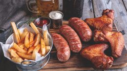 Sausage French Fries Beer