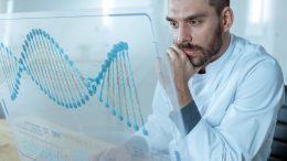 Scientist DNA Sequence Work