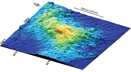 Scientists Confirm Existence of Largest Single Volcano on Earth Tamu Massif
