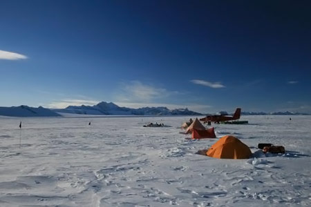 Scientists Discover Giant Channels Beneath Antarctic Ice Shelf