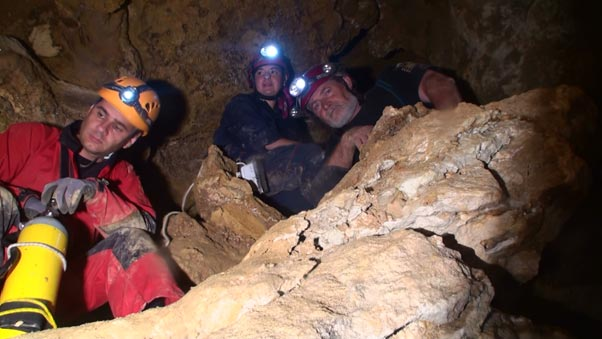 Scientists Exploring Movile Cave Romania