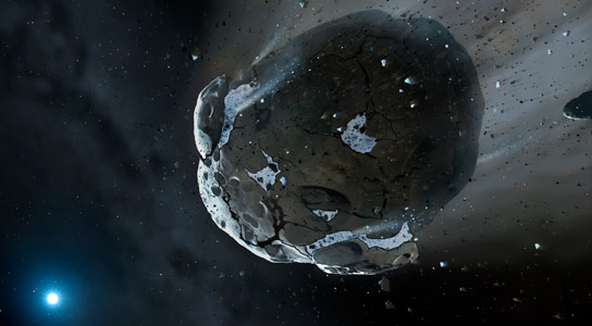 Water Discovered in Remnants of Rocky Planetary Body Outside Our Solar System