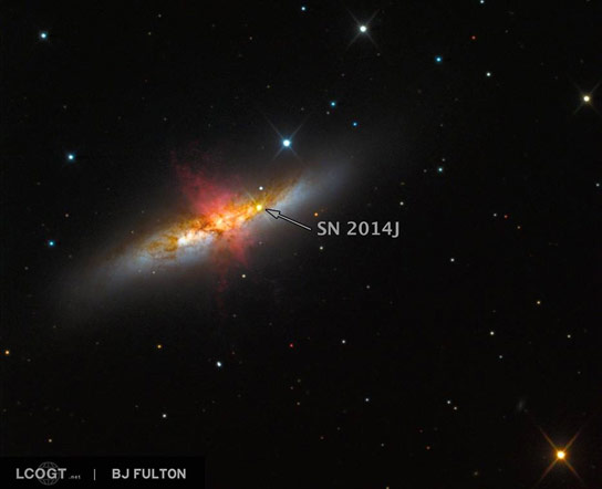 Scientists Observe Closest Milemarker Supernova